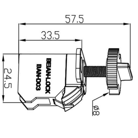 Блокиратор электроавтоматов BAN-D03 чертеж